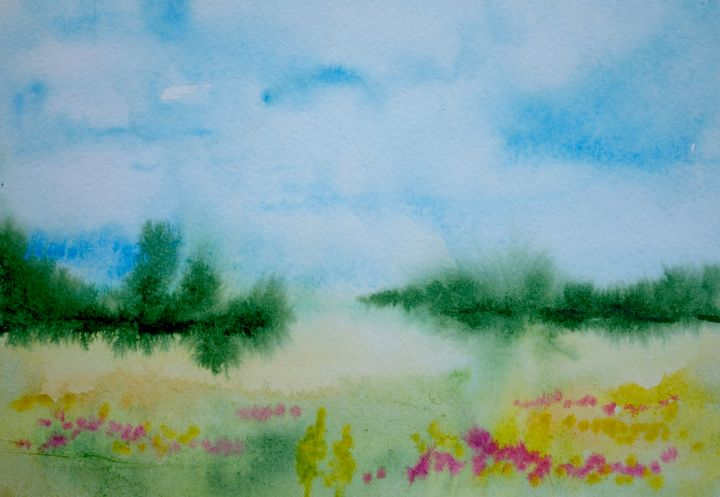 watercolor landscape - Nataliya Samoylova