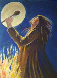 night ritual of the shaman