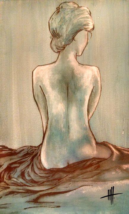Blue Woman study - Portraits