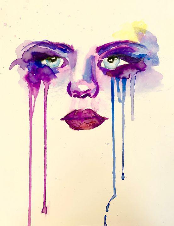 Painted Tears - Art by Amanda
