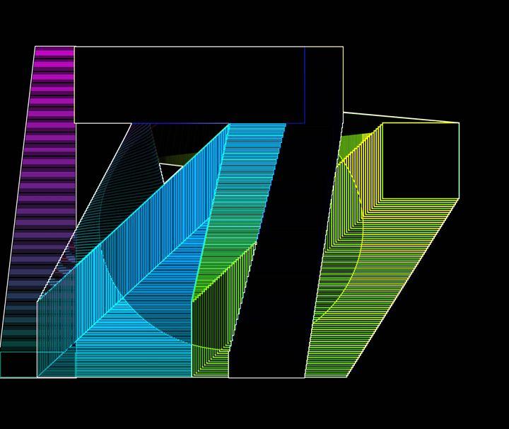 Purple Stairway - Gary Lawe