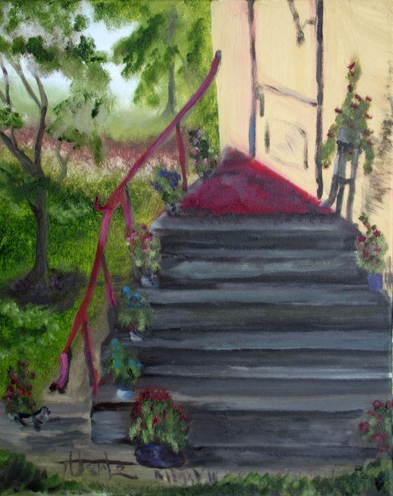 Flowers on a porch - TuSITALO - Thomas Usitalo