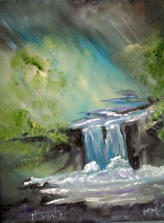 Waterfall in a RainStorm - TuSITALO - Thomas Usitalo