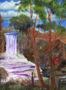 Purple Waterfall - Enhanced