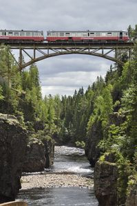 Train above the abyss