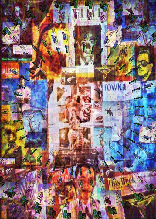 Dali Collage Collides with Art - Surrealpete