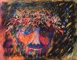 Jesus - Golden Crown of Thorns