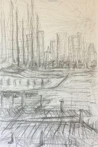 Chelsea Harbour five minute sketch - Good Art Direct