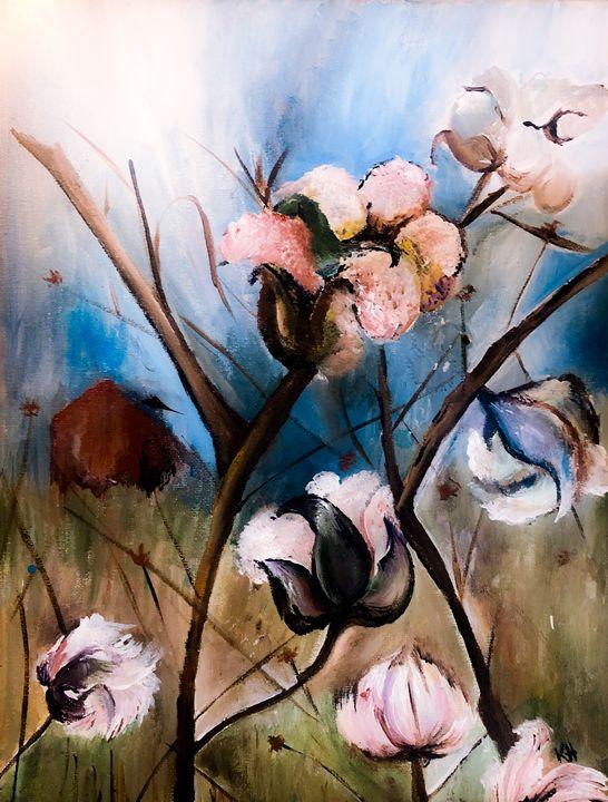 Cotton field - Kaitlin Hennessy Art
