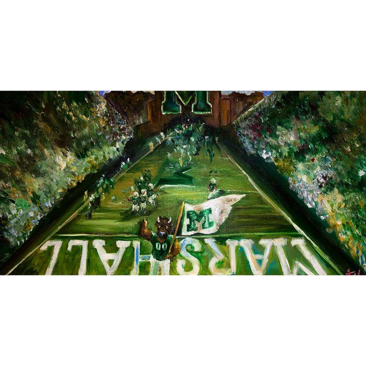 Hard Football - Kaitlin Hennessy Art