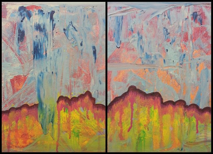 Untitled Abstract 4 (diptych) - Emily Hayes