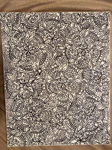 Black&White floral mandala