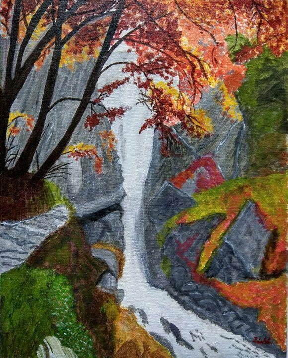 Waterfall canvas painting - PriaArt