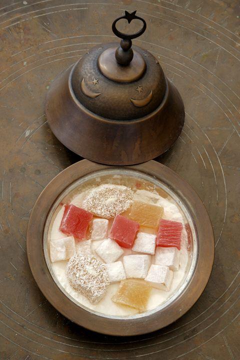 A bowl of Turkish Delight. ( Loukoum - Steve Outram