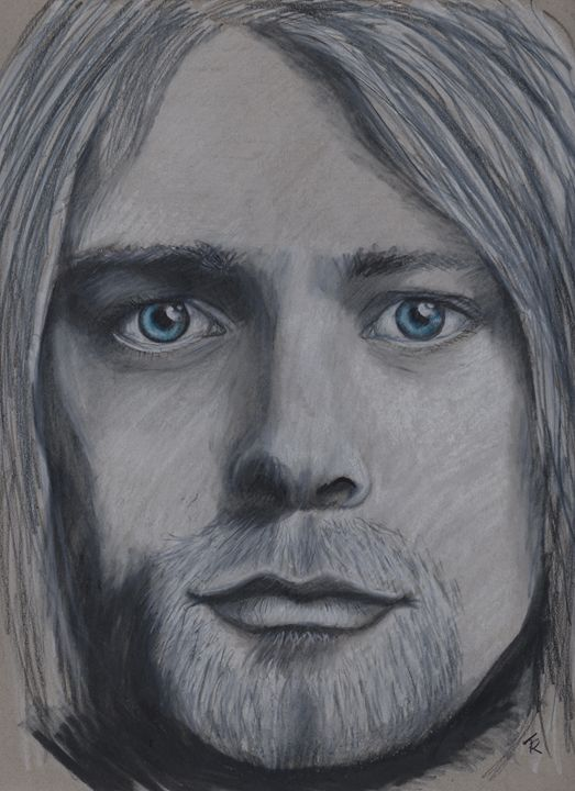Kurt Cobain - Paws & Portraits by Theresa