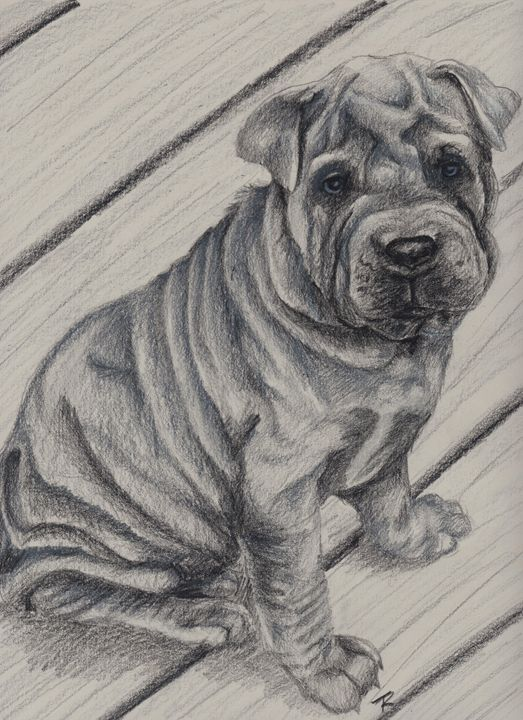 """""""Blue"""" - Paws & Portraits by Theresa"""