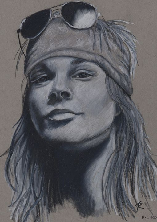 Axl Rose - Paws & Portraits by Theresa