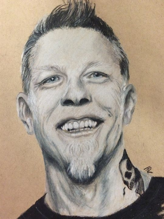 James Hetfield - Paws & Portraits by Theresa