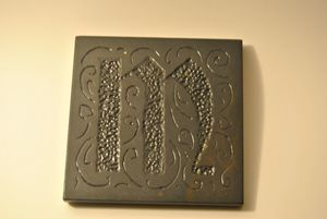 Monogrammed Slate Coaster