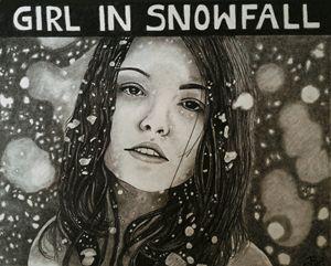 Girl in Snowfall