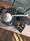 Mini embroidered tapestry