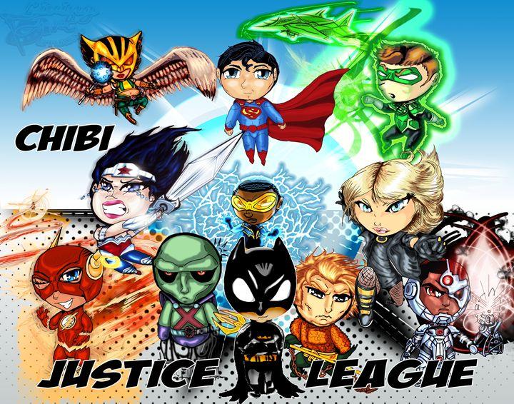 Chibi Justice League - Living Art Studios