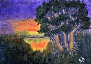 Lakeside Sunset Glow