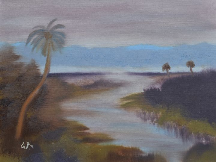 Across the Wetlands in Oil - Thompson Gallery