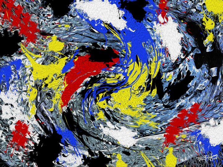 A colorful twirl - My art