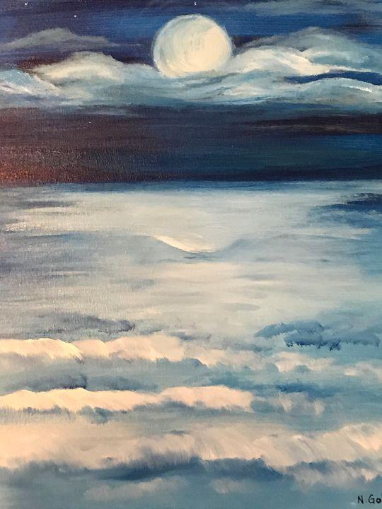 Moonlit Lake - Norma Golden