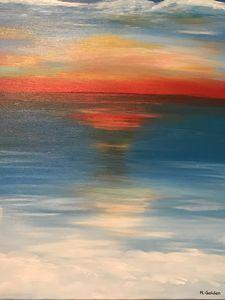Big Lake Sunset - Norma Golden