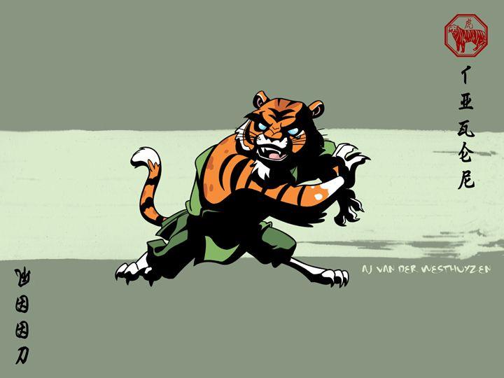 Asian Zodiac - The Tiger - AJ van der Westhuyzen