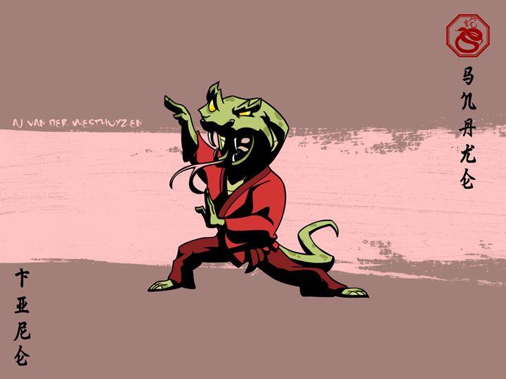 Asian Zodiac - The Snake - AJ van der Westhuyzen
