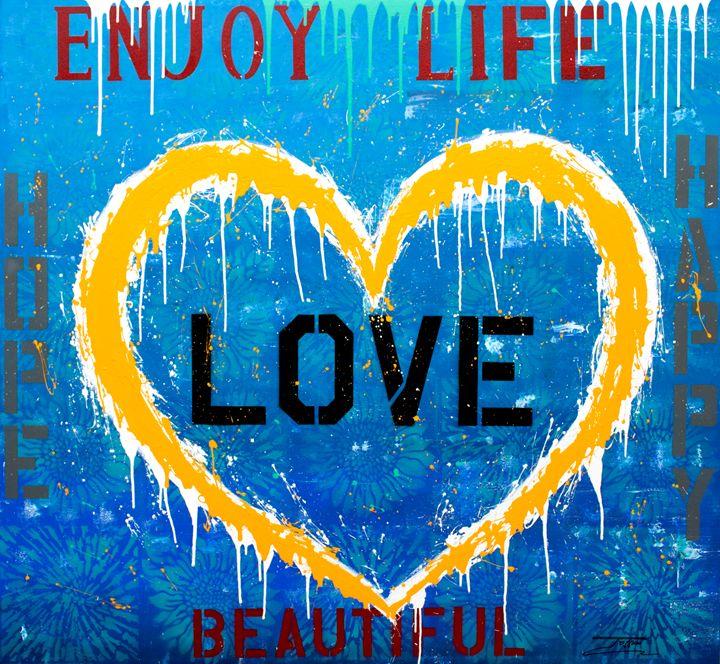 """Jozza """"Enjoy Life"""" 60X55 - pandoraartbox"""
