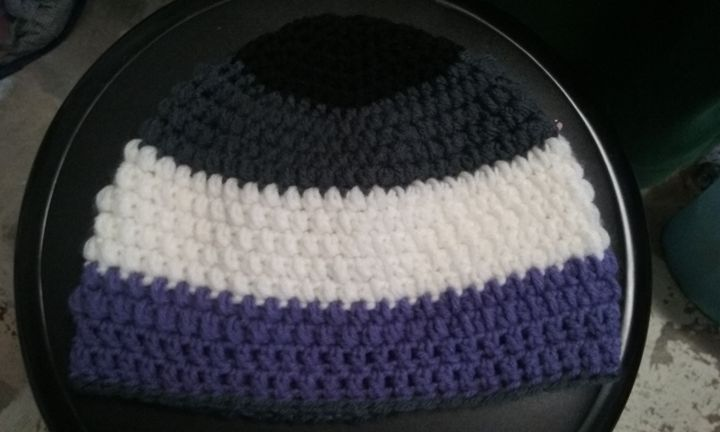 Ace Pride Flag Croshet Beanie - Products From Your Local Pastry