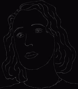 Lineart Edith Piaf - Skys