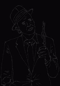 Lineart Frank Sinatra - Skys