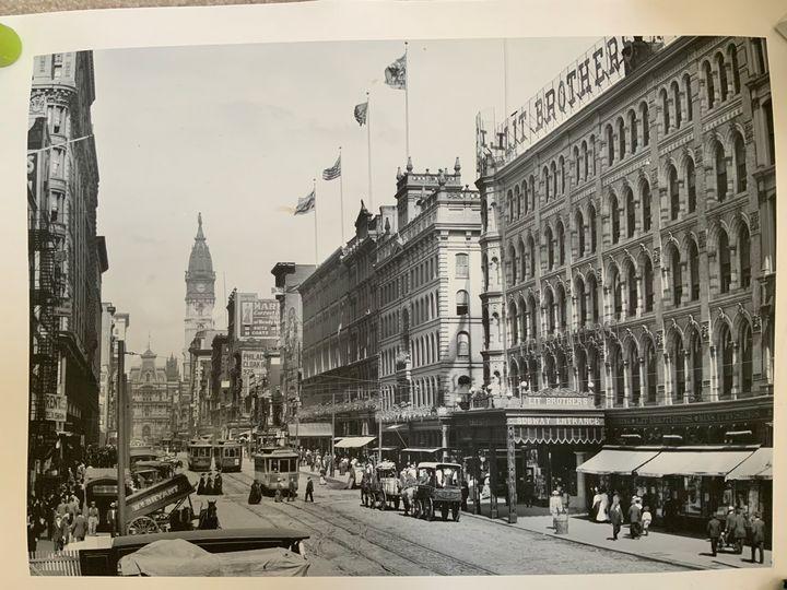 Philadelphia market St. - Vintage Prints