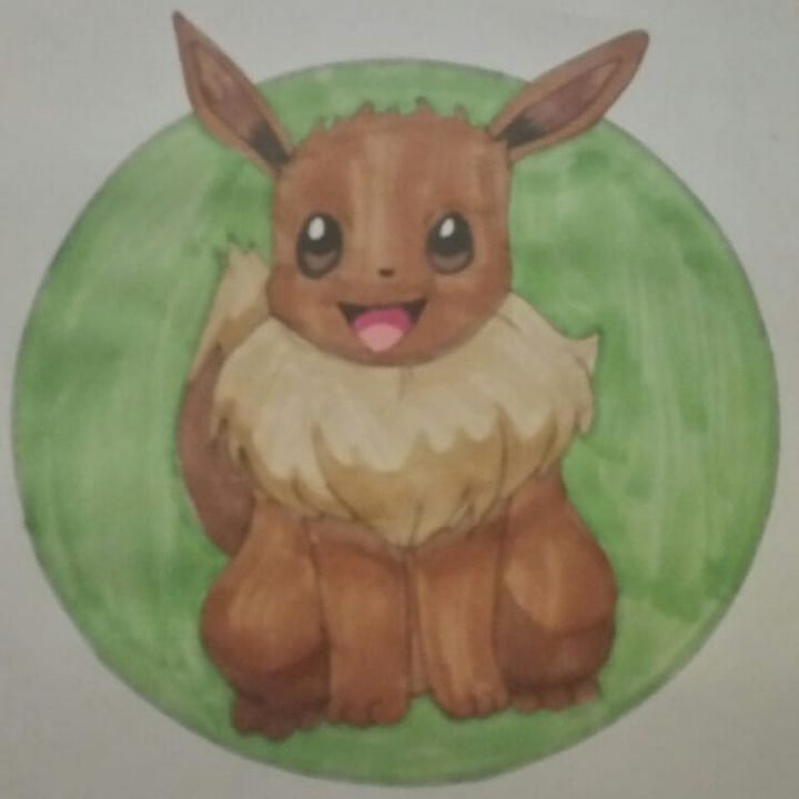 Eevee A3 poster - Foxy