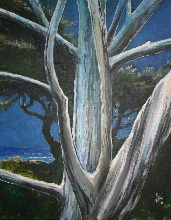 Moonlight over Big Sur - Nocturne - Art of the American West