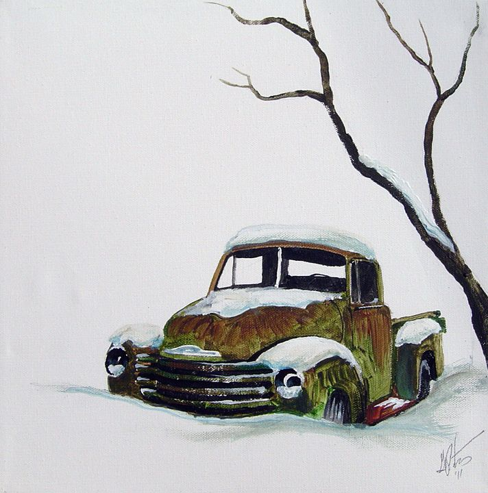 Cold Steel Chevy - Art of the American West