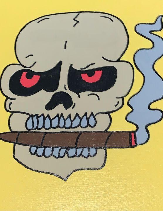 """ Smoking dead "" - EBKENCANVAS"