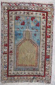 3 Caucasian/Persian needlepoint silk