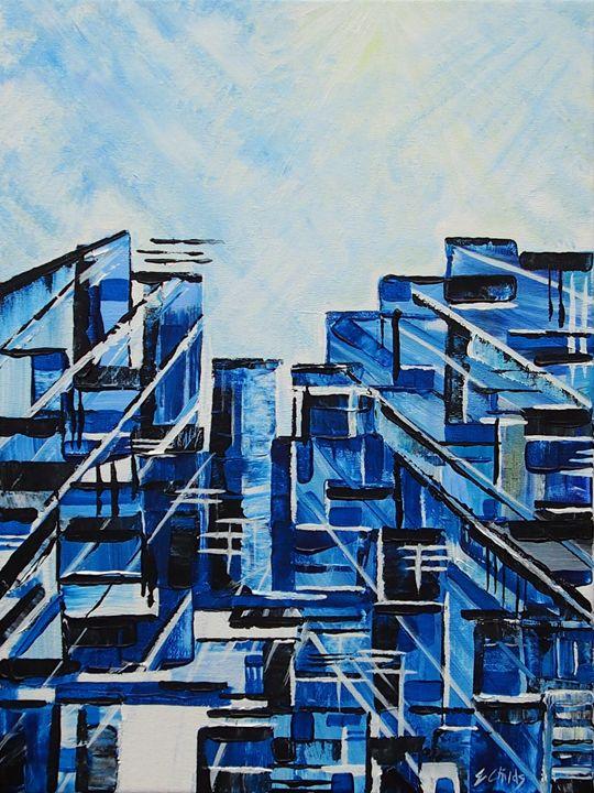 Urban Blue - Emma Childs Art