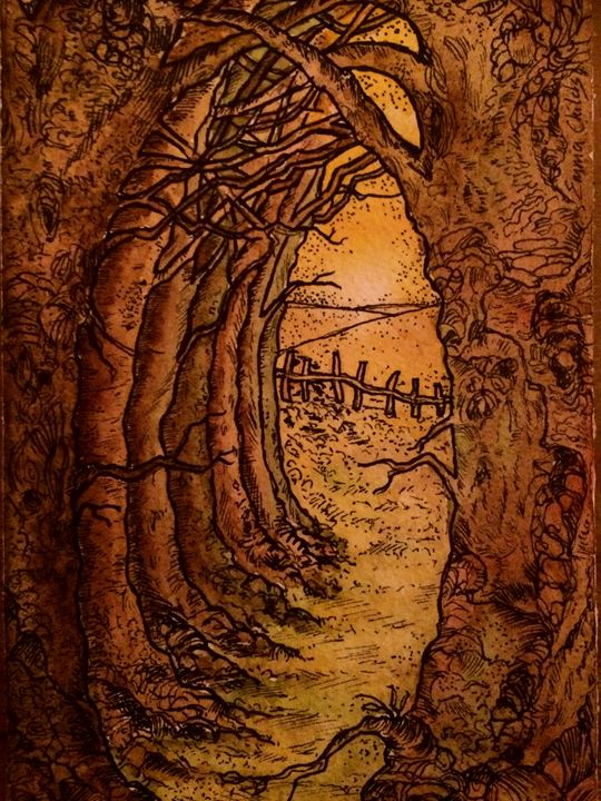 Enchanted forest field - Emma Childs Art