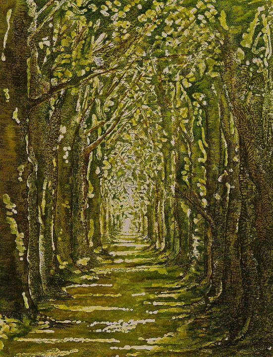The Avenue In Spring - Emma Childs Art
