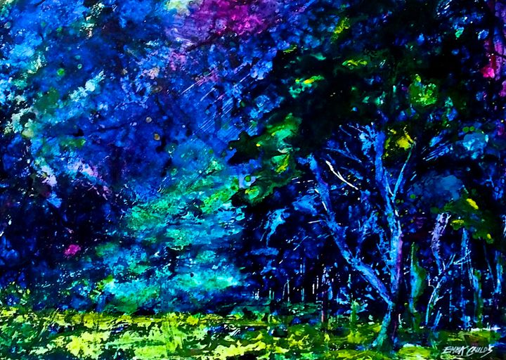 Peacock Wood - Emma Childs Art