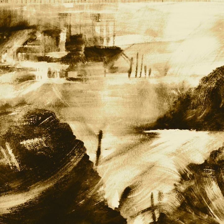 Whipping up a storm in sepia - Emma Childs Art