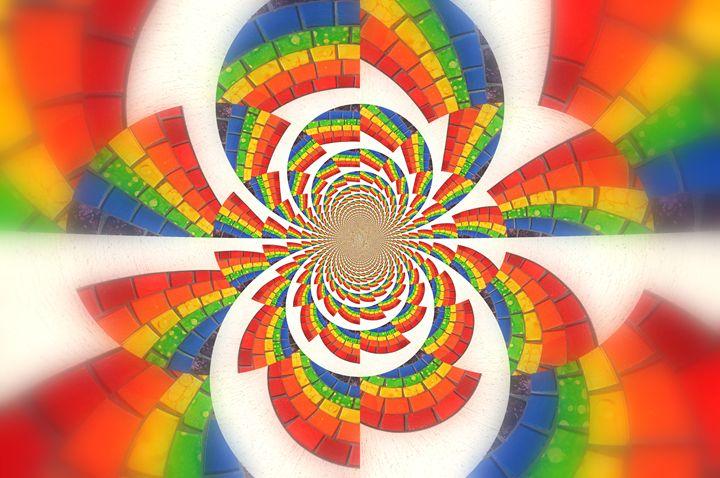 Rainbow Kaleidoscope Explosion - Kim's Eyemagination