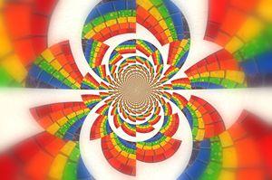 Rainbow Kaleidoscope Explosion